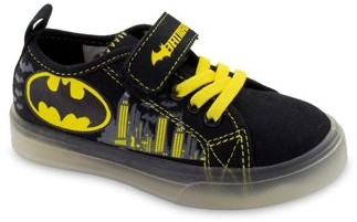 Batman Lighted Canvas Low Top Sneakers (Toddler Boys)