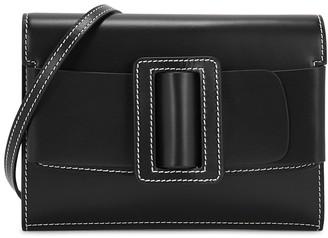 Boyy Buckle Big Stitch black leather cross-body bag