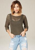 Bebe Openwork Sweater