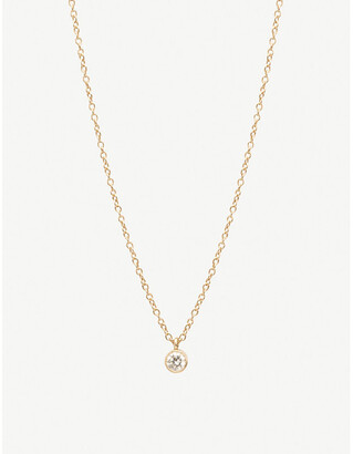 Selfridges Zoe Chicco 14ct yellow-gold and diamond drop choker necklace