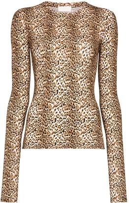 MARCIA Chercher le Garcon leopard-print top