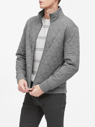 Banana Republic Cozy Quilted Track Jacket