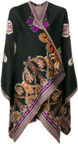 Etro embroidered wrap-over coat