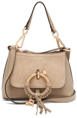 See by Chloe Joan Mini Leather And Suede Cross-body Bag - Grey