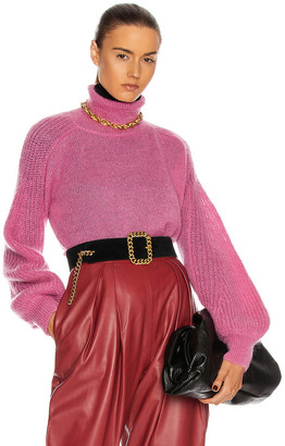 Alberta Ferretti Turtleneck Sweater in Pink | FWRD