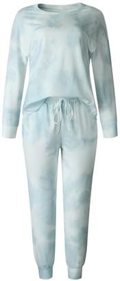 Goodnight Macaroon 'Amelia' Tie Dye Long Sleeve PJ Set (4 Colors)