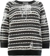 Lamberto Losani heart knit jumper
