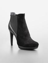 Calvin Klein Britney Suede + Leather Platform Ankle Boot