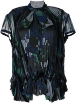 Sacai printed pleated blouse - women - Polyester - 1