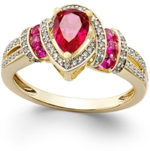Macy's Certified Ruby (1 ct. t.w.) and Diamond (1/4 ct. t.w.) Ring in 14k Gold