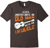 Men's Never Underestimate an Old Man With An Ukulele Large