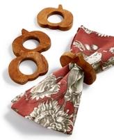 Bardwil Bardwil Wood 4-Pc. Pumpkin Napkin Ring Set
