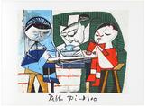 Le Repas des Infants by Pablo Picasso (Estate Lithograph Poster)