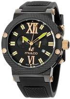 Mulco Nuit MW311010025 Rose Gold Tone Stainless Steel & Silicone Quartz 47mm Womens Watch