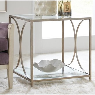 Hooker Furniture Novella Glass Top End Table with Storage