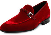Salvatore Ferragamo Lord 2 Velvet Slip-On Loafer, Red
