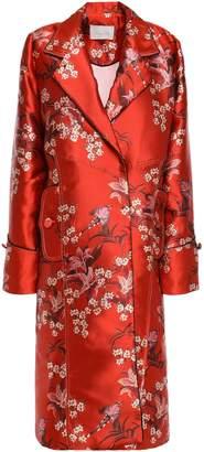 Johanna Ortiz As If Floral-print Satin Coat