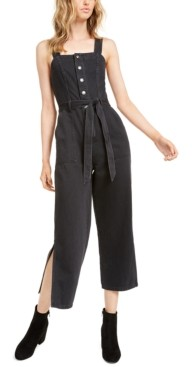OAT Black Volcano Side-Slit Jumpsuit