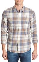 Lucky Brand &Mason& Trim Fit Twill Plaid Woven Shirt