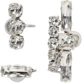 Saint Laurent Set of Three Clear Crystal Earrings