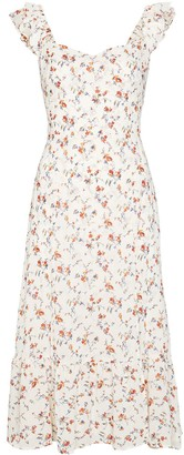 Reformation Bondi floral-print midi dress