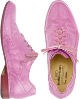 Pakerson Pink Italian Handmade Leather Lace-up Shoes