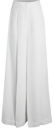 Brunello Cucinelli Wide Leg Linen-Blend Pants