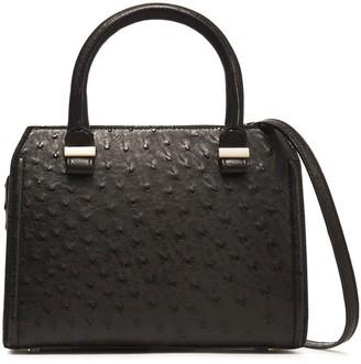Victoria Beckham Patent Leather-trimmed Ostrich Shoulder Bag