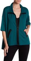 Grayse Zip Front 3/4 Sleeve Jacket