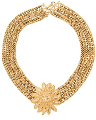 Chanel Pre Owned 1975-1985 Lion Head Necklace
