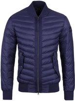 True Religion Dark Blue Padded Bomber Jacket