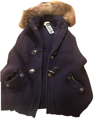 Bark Blue Wool Jacket for Women