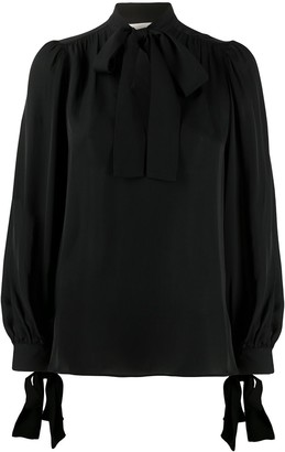 MICHAEL Michael Kors Pussy-Bow Blouse