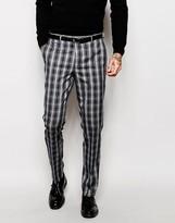 Asos Slim Suit Pants In Check