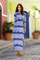 Shabby Apple Marisol Wrap Maxi Dress Blue