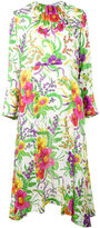 Balenciaga Slide floral dress - women - Silk/Polyamide - 34