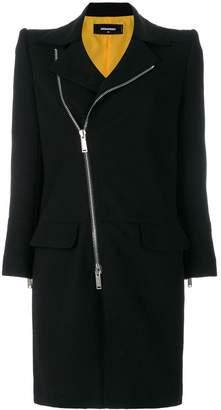 DSQUARED2 asymmetric zip front coat