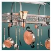 Hi-Lite Odysee Rectangular Hanging Pot Rack with 6 Lights Base