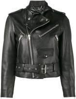 Balenciaga Scarf biker jacket