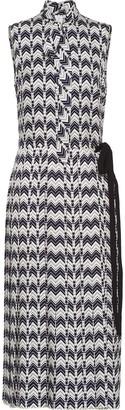 Prada Chevron-Motif Dress