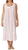 Eileen West Elieen West Plus Embroidered Striped Lawn Ballet Nightgown