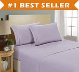 Elegant Comfort Luxury Bed Sheet Set on Amazon! Chain Design 1500 Thread Count Egyptian Quality Wrinkle and Fade Resistant 4-Piece Bed Sheet set, Deep Pocket, HypoAllergenic - King, Lilac
