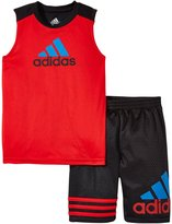 adidas Racer Set (Toddler) - Bright Red - 4T