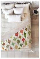 "DENY Designs Green Novelty Sabine Reinhart Ornaments Sherpa Throw Blanket (50""x60"