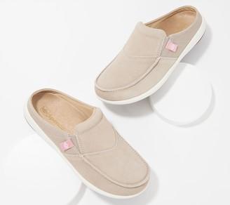 Spenco Orthotic Suede Slip-On Shoes - Siesta Via