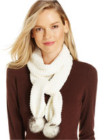 Charter Club Chenille Pom Pom Scarf, Only at Macy's