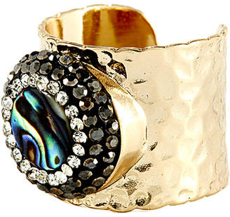 Eye Candy Los Angeles Eye Candy La Soft Stone Sparkly Abalone Shell Ring