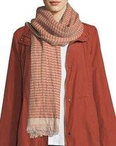 Eileen Fisher Organic Linen Diamond Weave Wrap