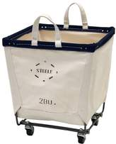 Pottery Barn Medium Square Canvas Basket with Wheels