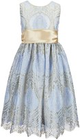 Jayne Copeland Big Girls 7-12 Lace Satin-Sash Dress